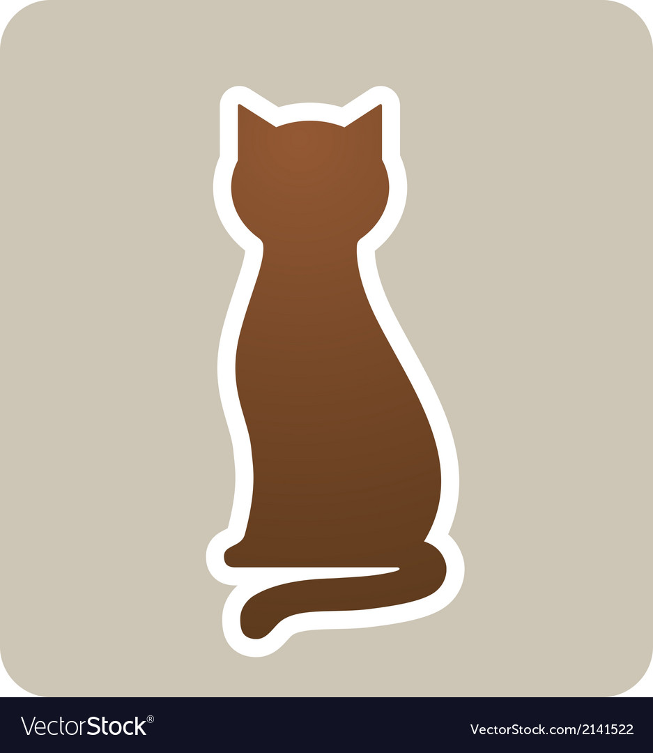 Sign with cat vector | Price: 1 Credit (USD $1)