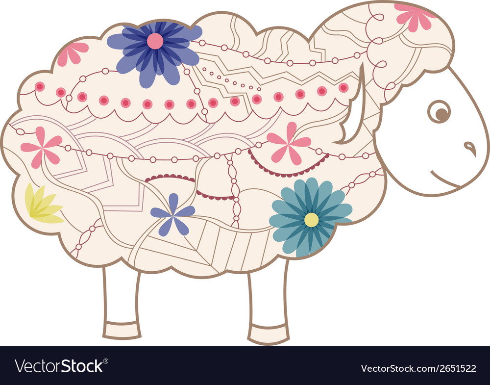 Vintage sheep vector | Price: 1 Credit (USD $1)