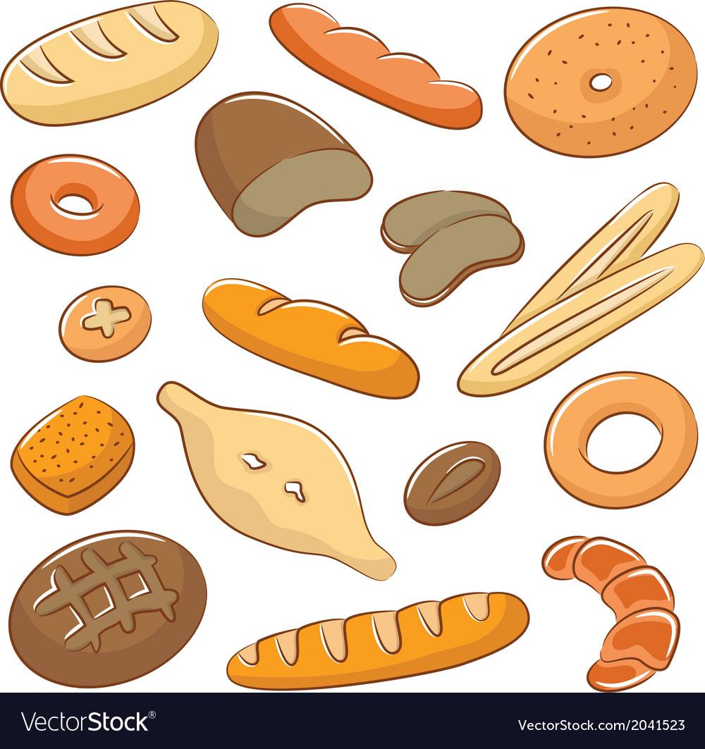 Bread doodles vector | Price: 1 Credit (USD $1)