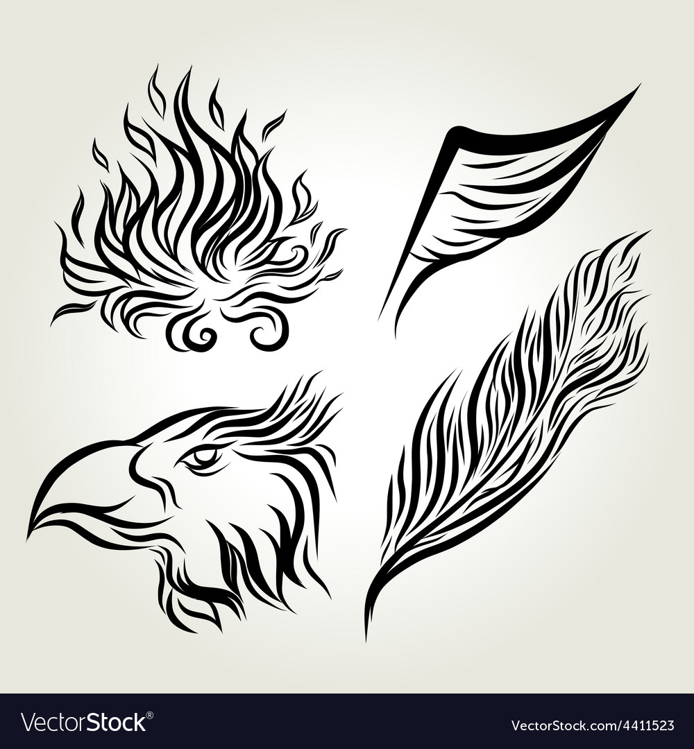 Eagle wing hand drawing vector | Price: 1 Credit (USD $1)