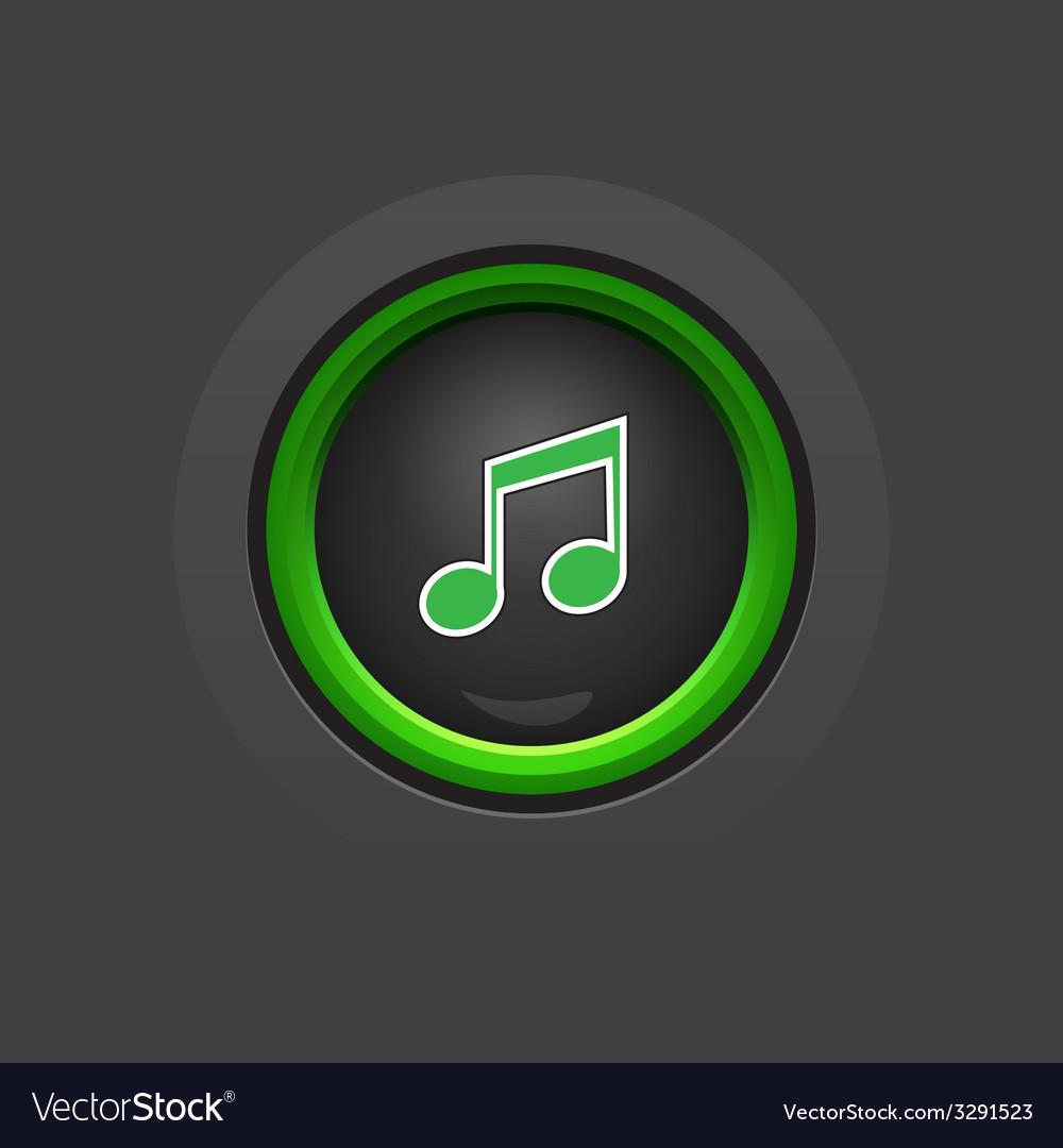 Glossy dark circle music button vector   Price: 1 Credit (USD $1)