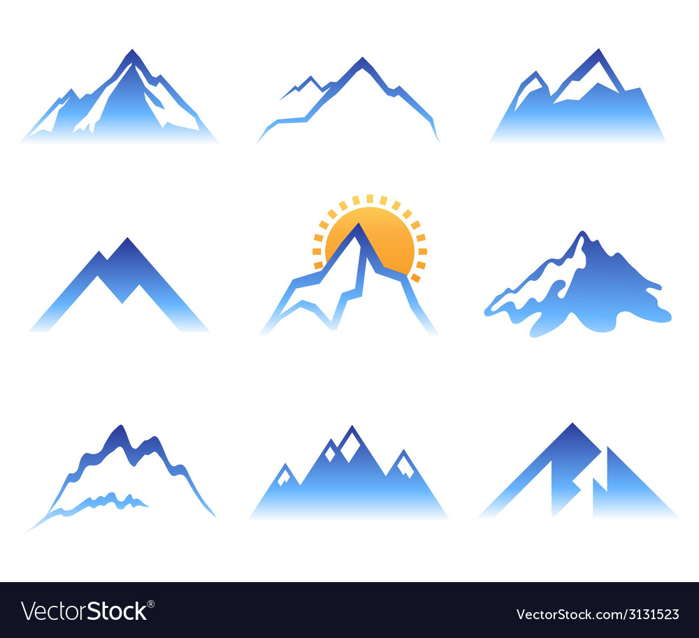Mountains signs vector | Price: 1 Credit (USD $1)