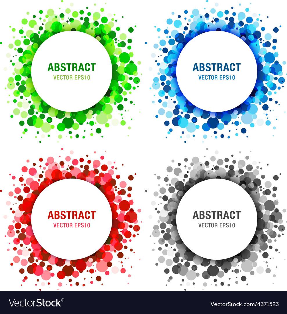 Set of bright abstract circles frames vector | Price: 1 Credit (USD $1)