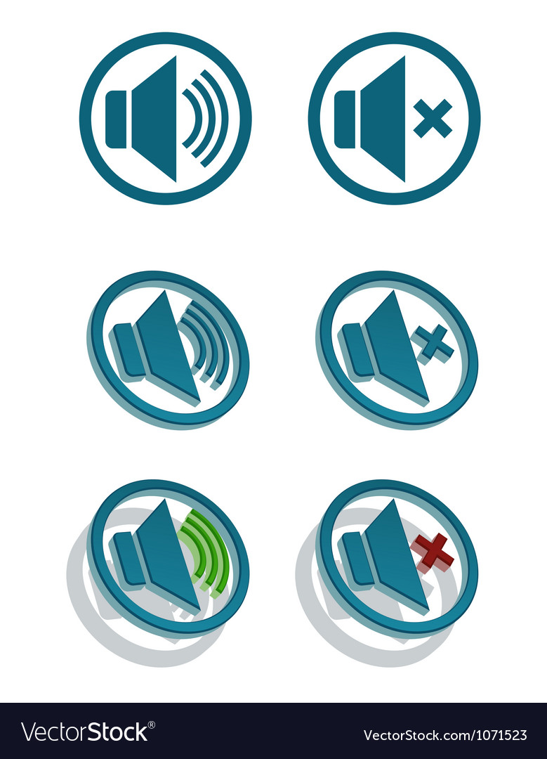 Set of simple speaker icons vector | Price: 1 Credit (USD $1)