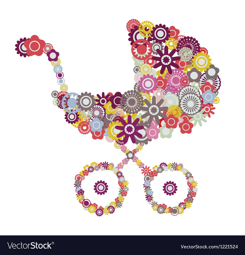 Baby stroller vector | Price: 1 Credit (USD $1)
