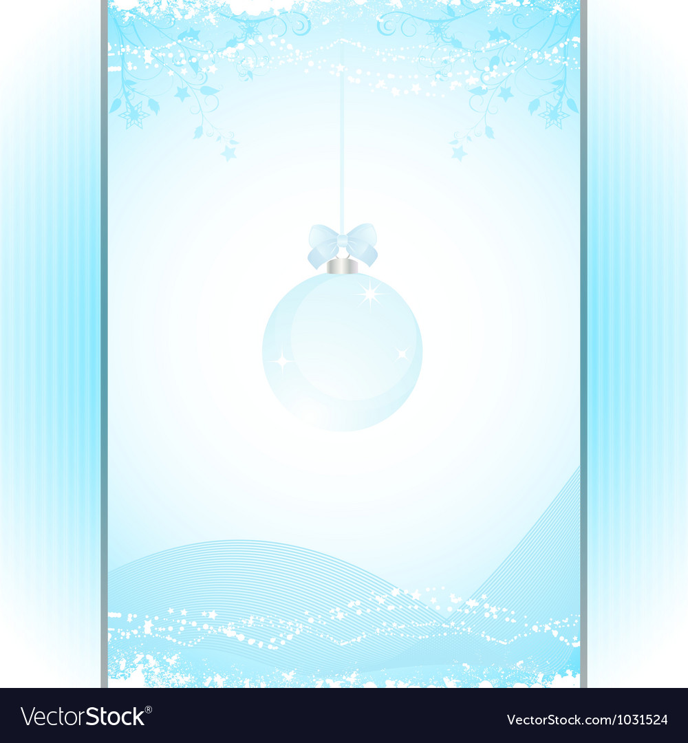 Christmas bauble panel background blue vector | Price: 1 Credit (USD $1)