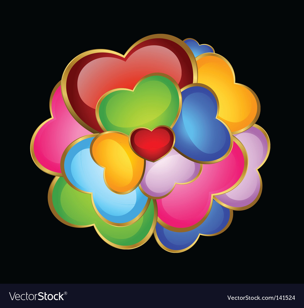 Colorful hearts vector | Price: 1 Credit (USD $1)