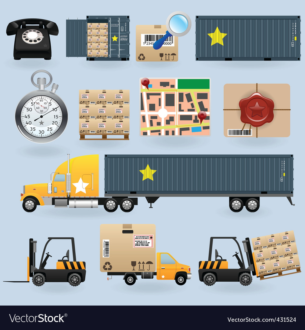 Delivery icons vector | Price: 3 Credit (USD $3)
