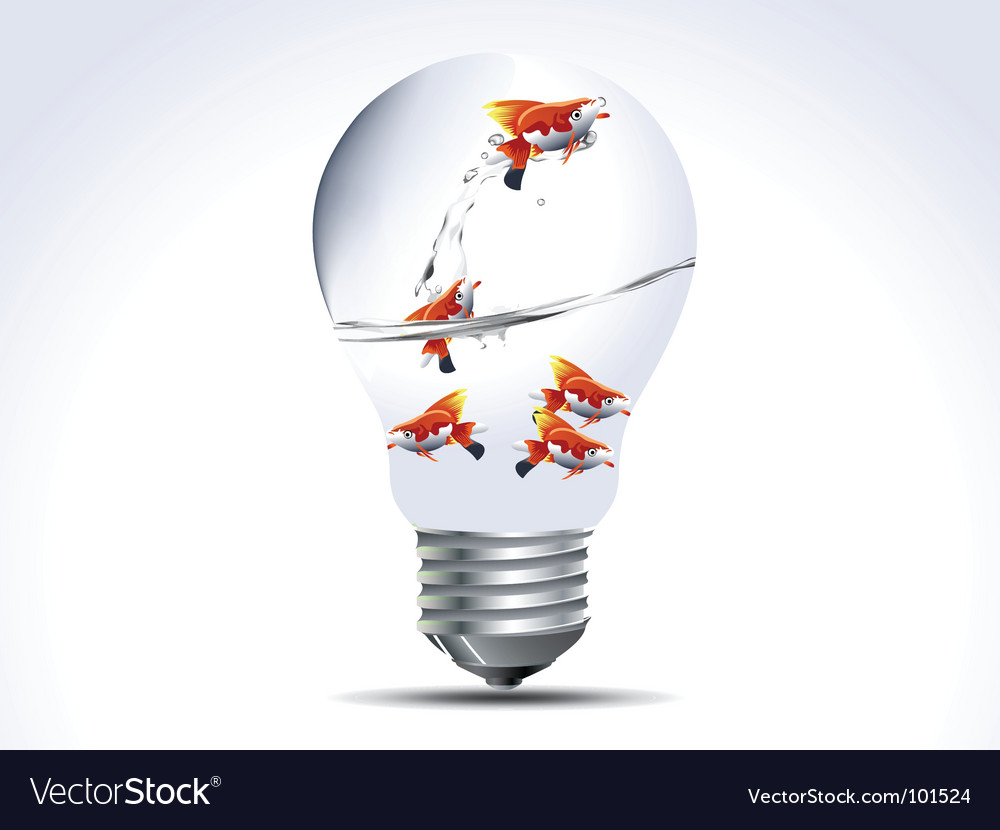 Fish bulb vector | Price: 1 Credit (USD $1)