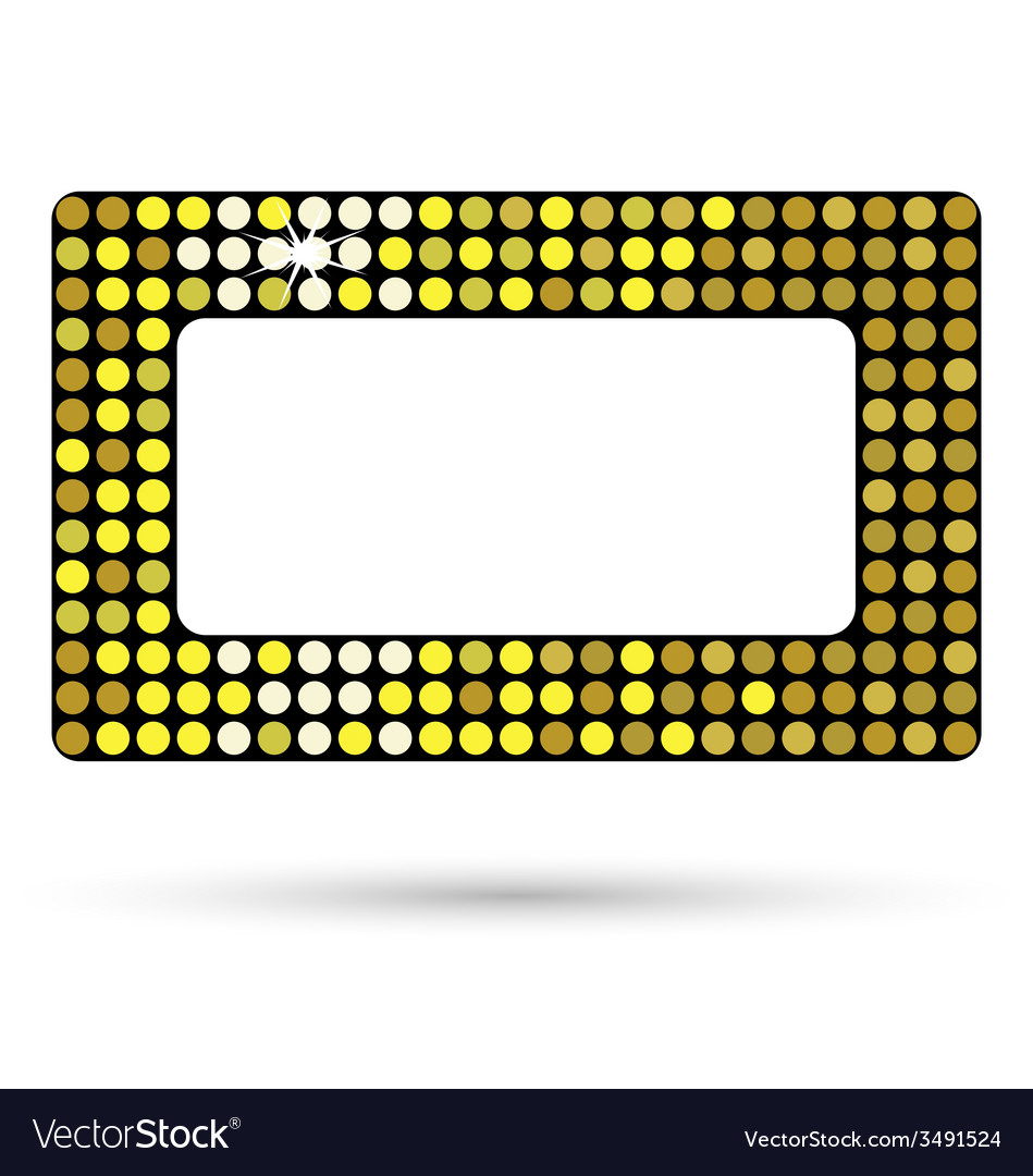 Golden framework or belt buckle isolated on white vector | Price: 1 Credit (USD $1)