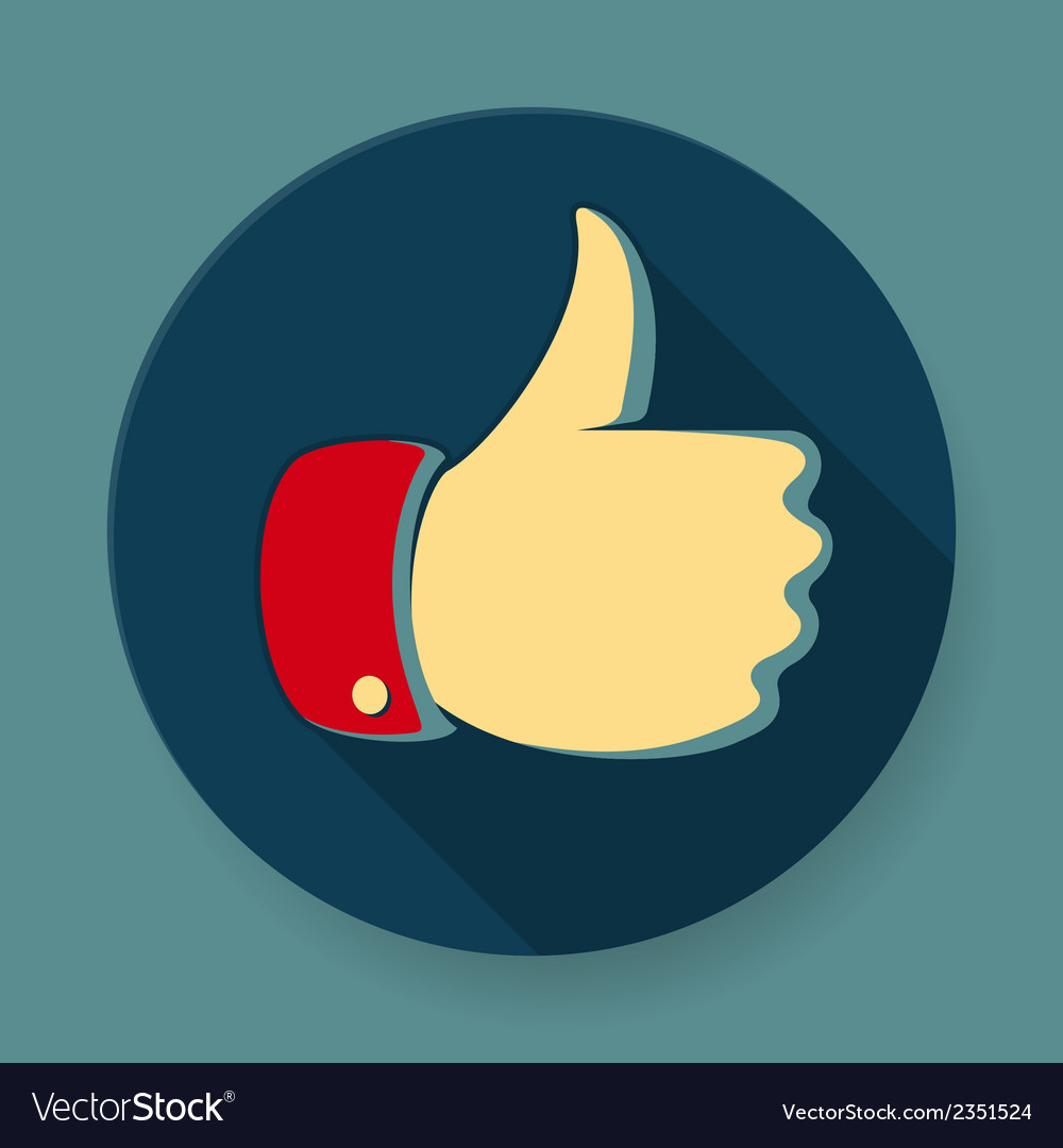 Like symbol icon flat design vector | Price: 1 Credit (USD $1)