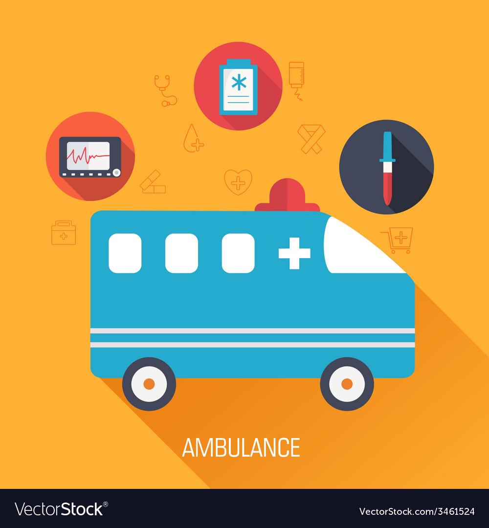 Medicine flat background concept vector | Price: 1 Credit (USD $1)
