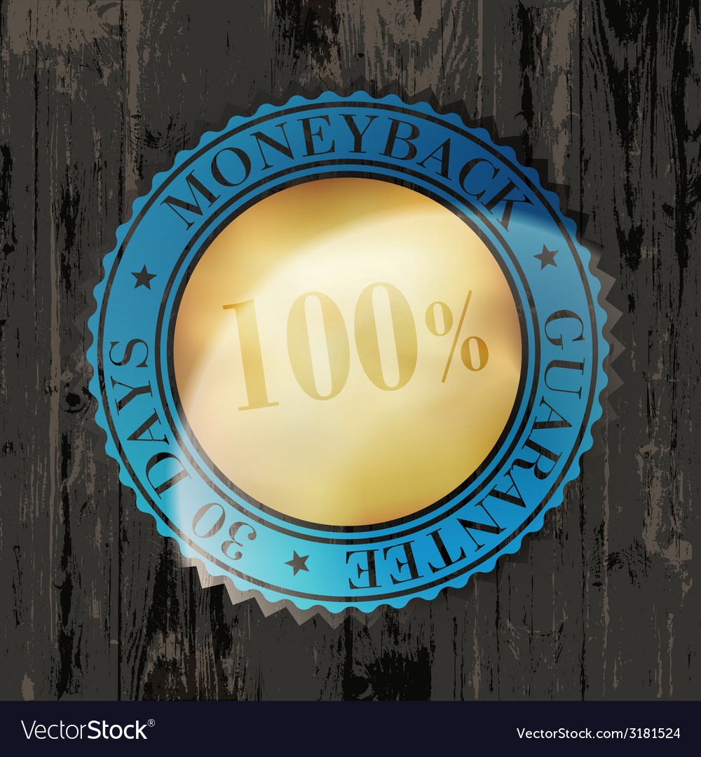 Moneyback sign vintage vector | Price: 1 Credit (USD $1)