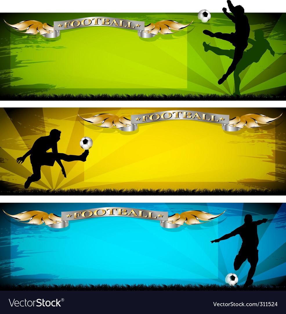 Soccer banners vector | Price: 3 Credit (USD $3)