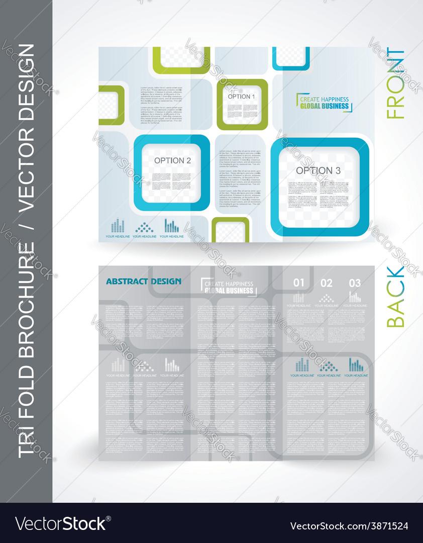 Tri-fold travel mock up brochure design vector | Price: 1 Credit (USD $1)