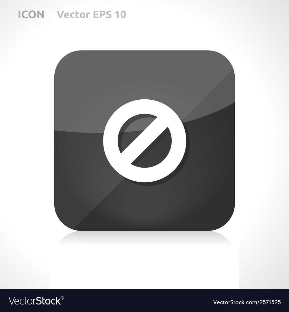 Ban icon vector | Price: 1 Credit (USD $1)