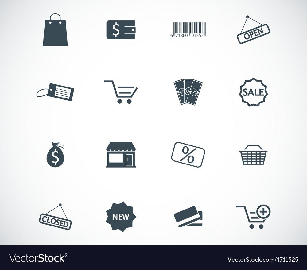 Black shop icons set vector | Price: 1 Credit (USD $1)