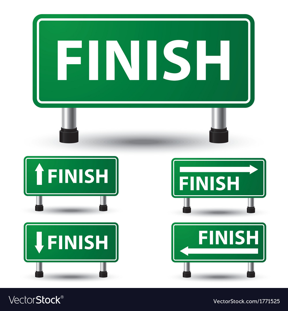 Finish sign vector | Price: 1 Credit (USD $1)