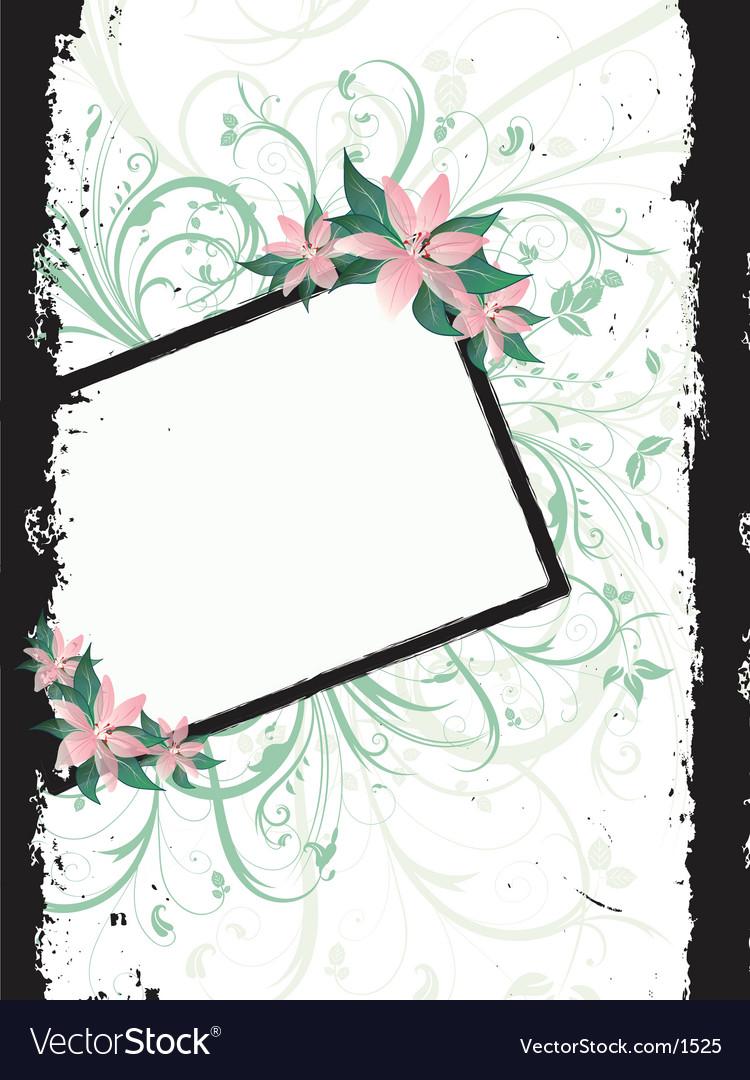 Floral grunge border vector | Price: 1 Credit (USD $1)