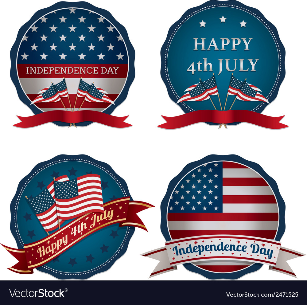 Fourth of july decorations vector | Price: 1 Credit (USD $1)