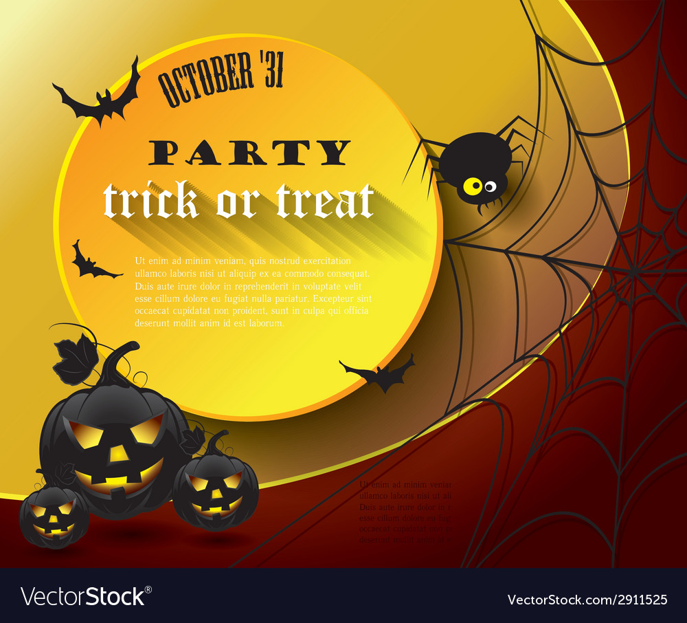 Halloween party poster vector | Price: 1 Credit (USD $1)