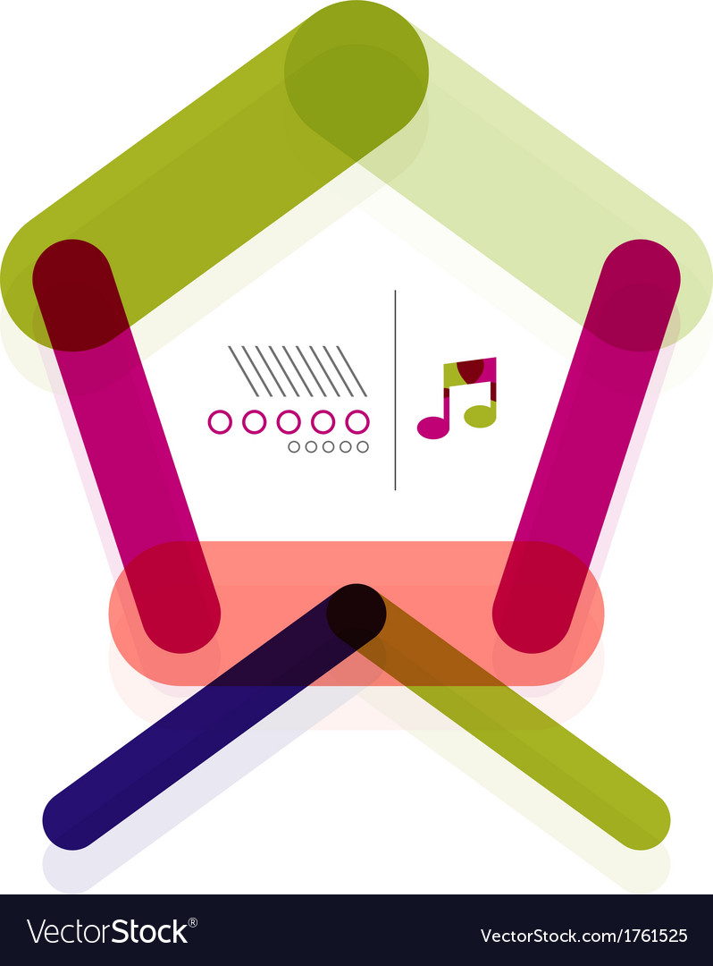 Home abstract geometric shape concept vector | Price: 1 Credit (USD $1)