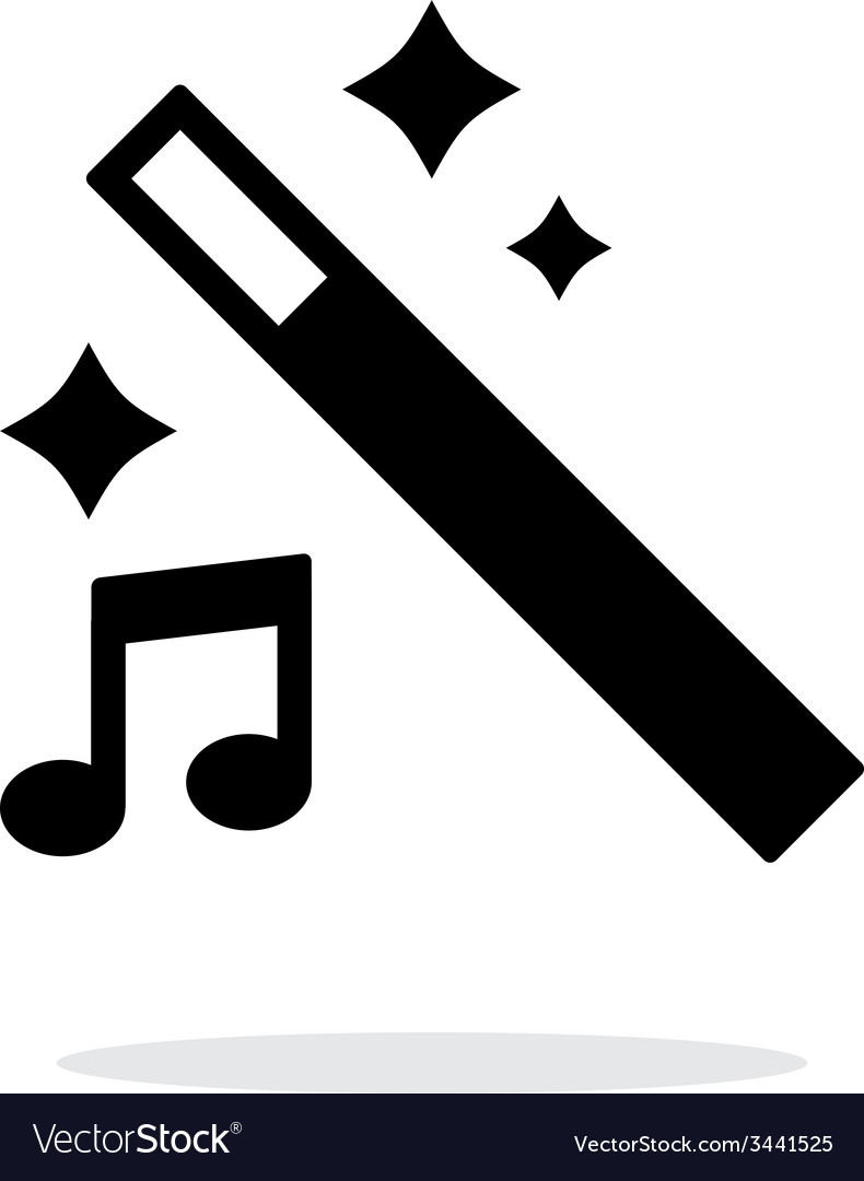 Magic music icon vector | Price: 1 Credit (USD $1)