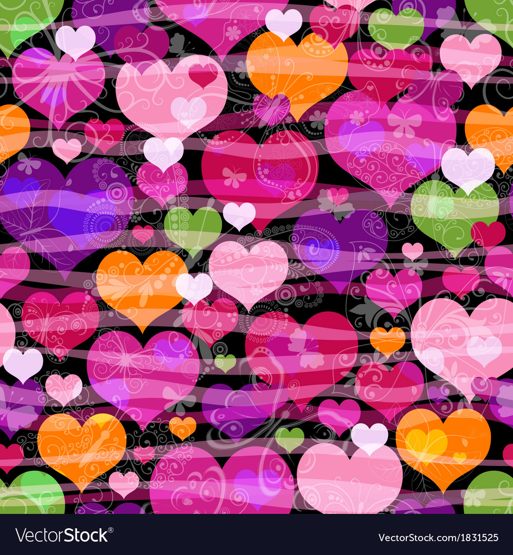 Motley seamless valentine pattern vector | Price: 1 Credit (USD $1)