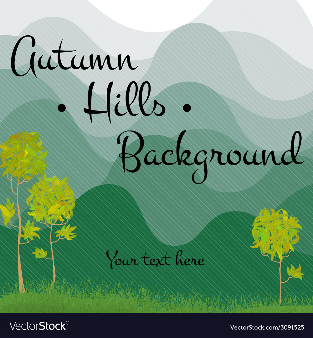 Mountains and trees background vector   Price: 1 Credit (USD $1)