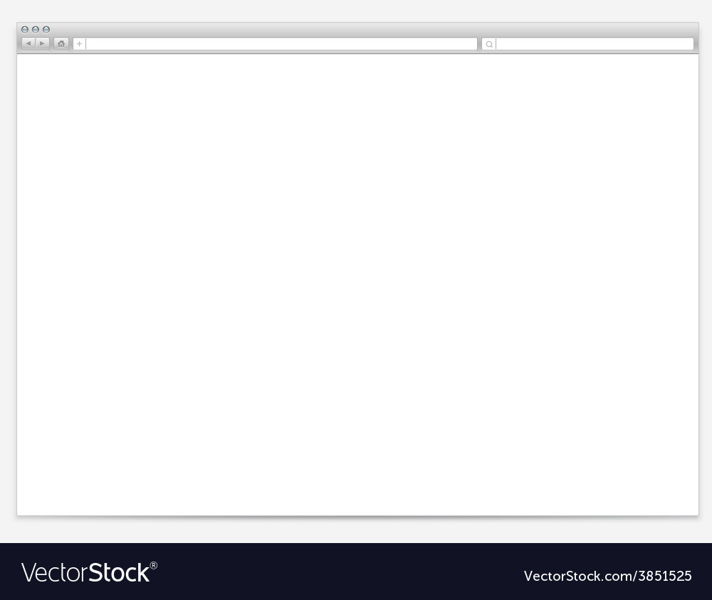 Opened browser window template vector | Price: 1 Credit (USD $1)