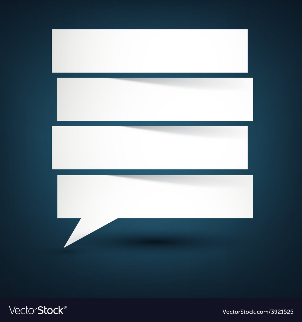 Paper white separated speech bubble vector | Price: 1 Credit (USD $1)