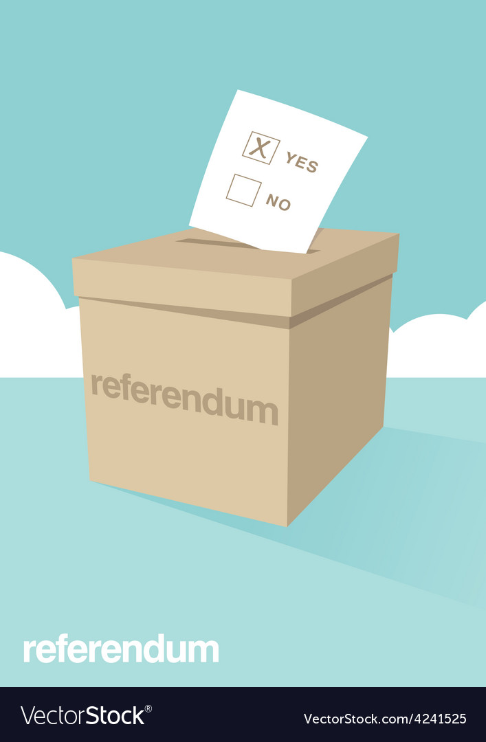 Referendum ballot box vector | Price: 1 Credit (USD $1)