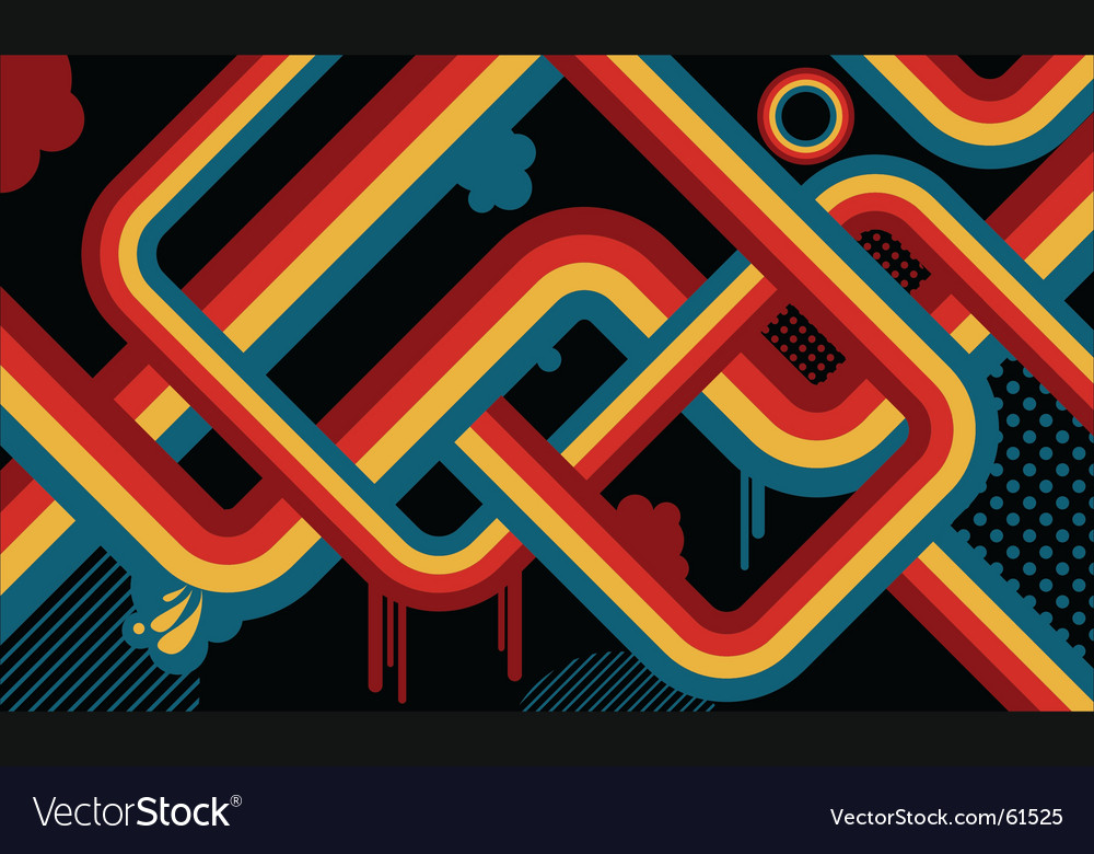 Retro abstract vector | Price: 1 Credit (USD $1)