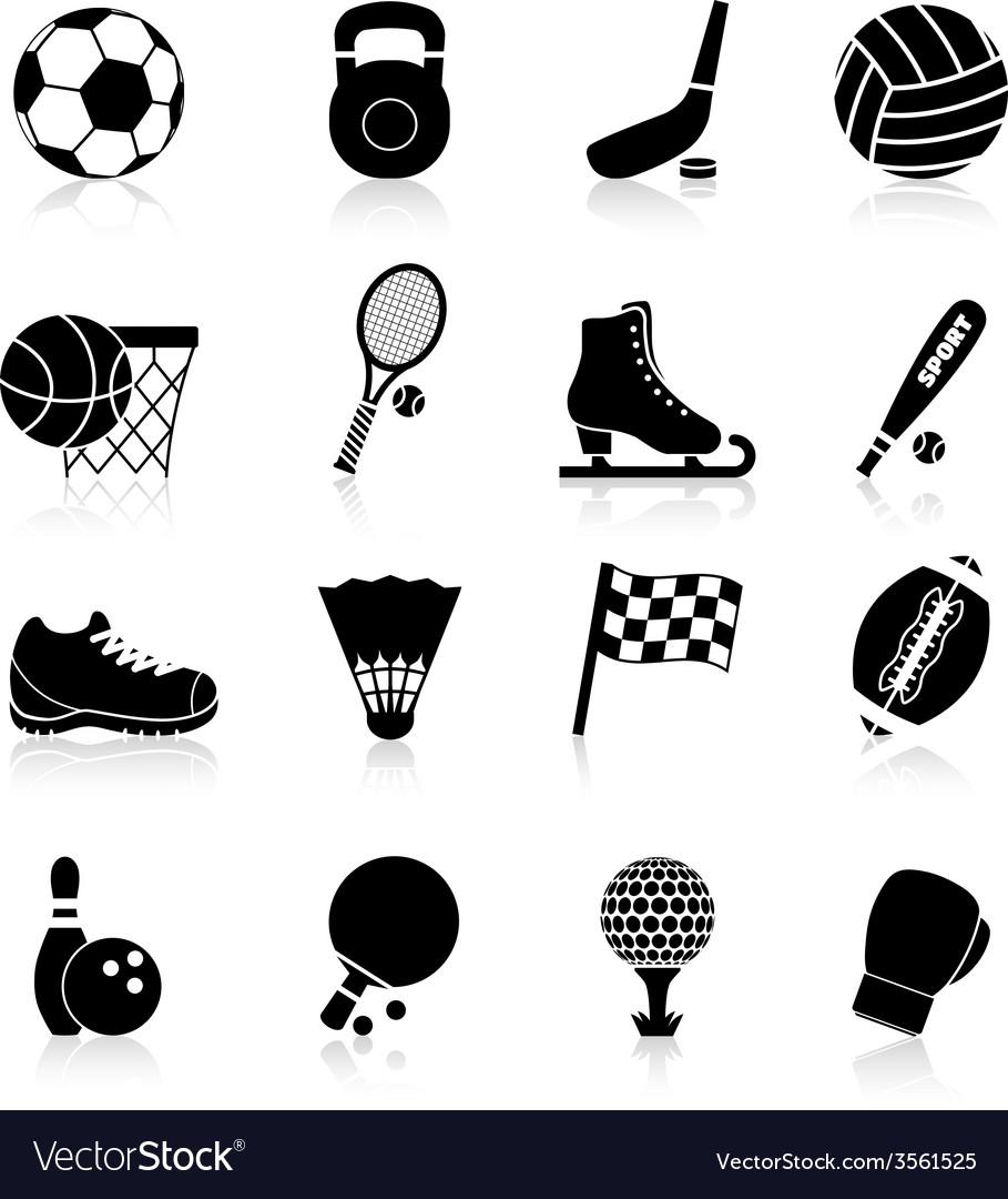 Sport icons black vector   Price: 1 Credit (USD $1)