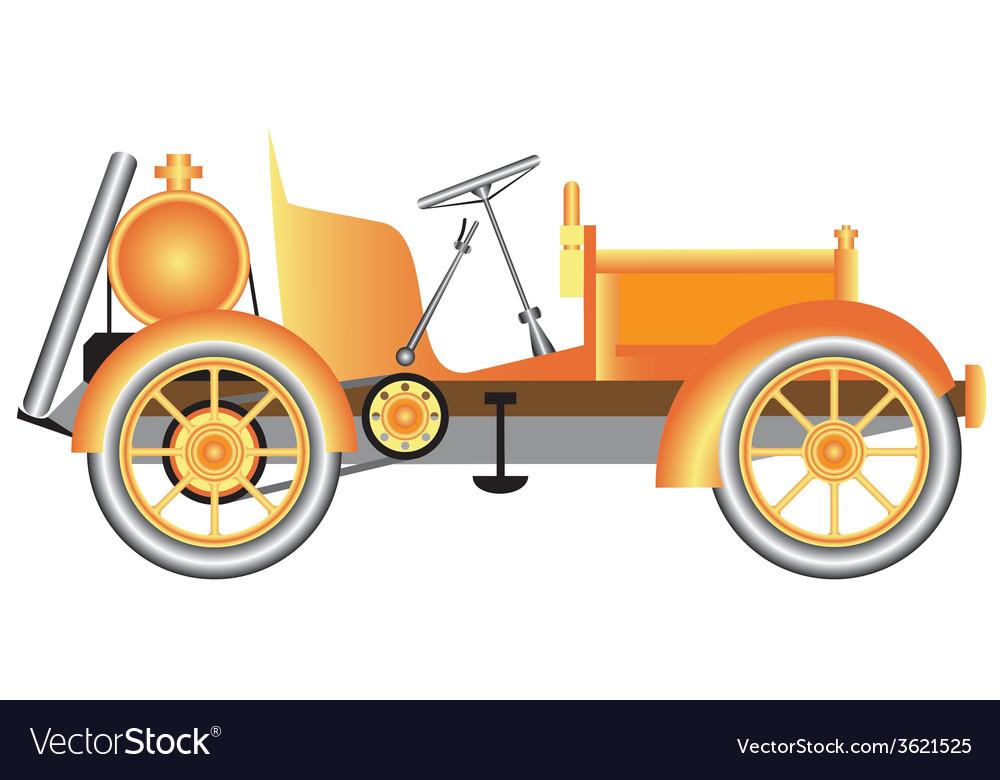 Vintage motor car vector | Price: 1 Credit (USD $1)