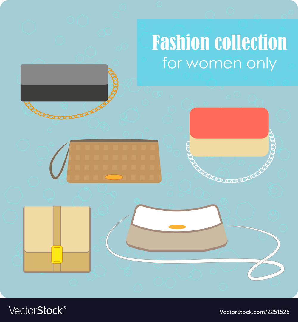 Womens fashion collection of bags vector | Price: 1 Credit (USD $1)
