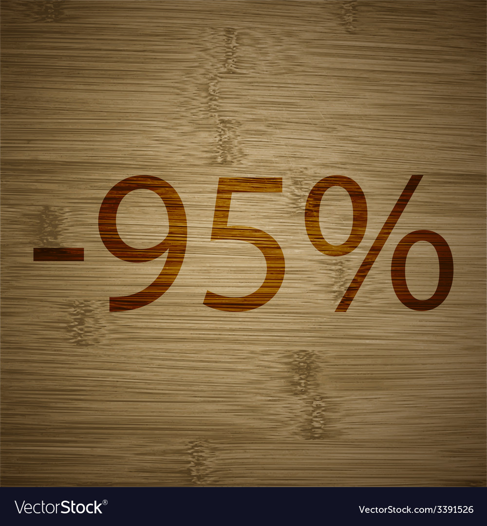 95 percent discount icon symbol flat modern web vector | Price: 1 Credit (USD $1)