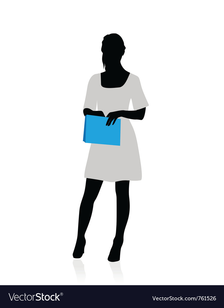 Business woman silhouette vector | Price: 1 Credit (USD $1)