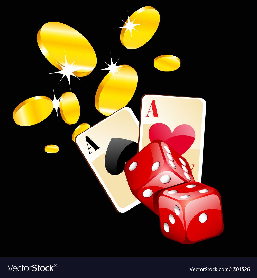 Coins and dice vector | Price: 3 Credit (USD $3)