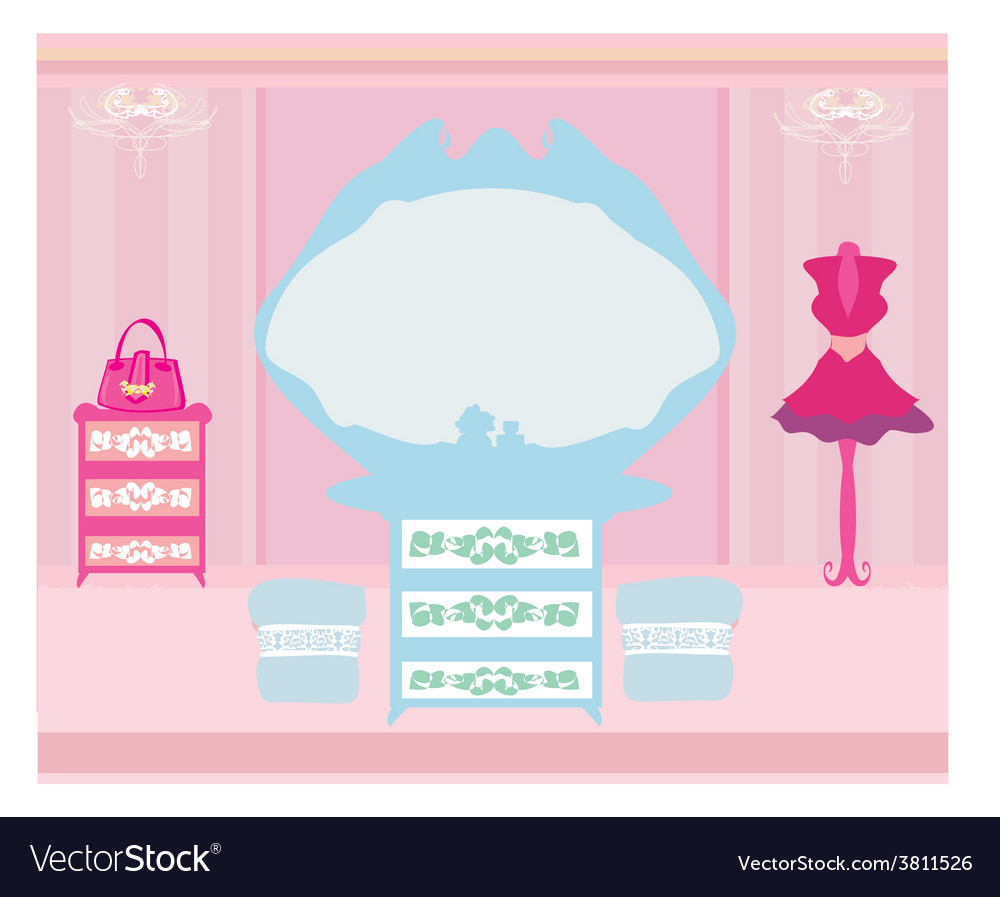 Elegant style dressing room vector | Price: 1 Credit (USD $1)