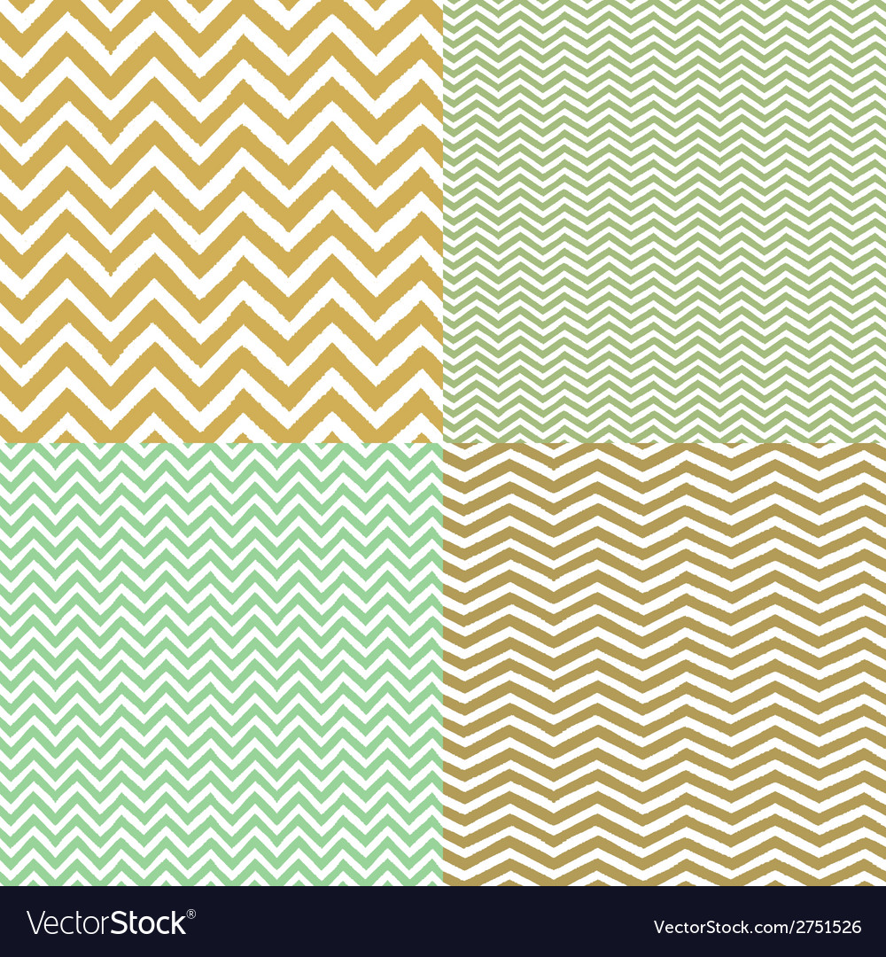 Geometric chevron seamless patterns set hand drawn vector | Price: 1 Credit (USD $1)