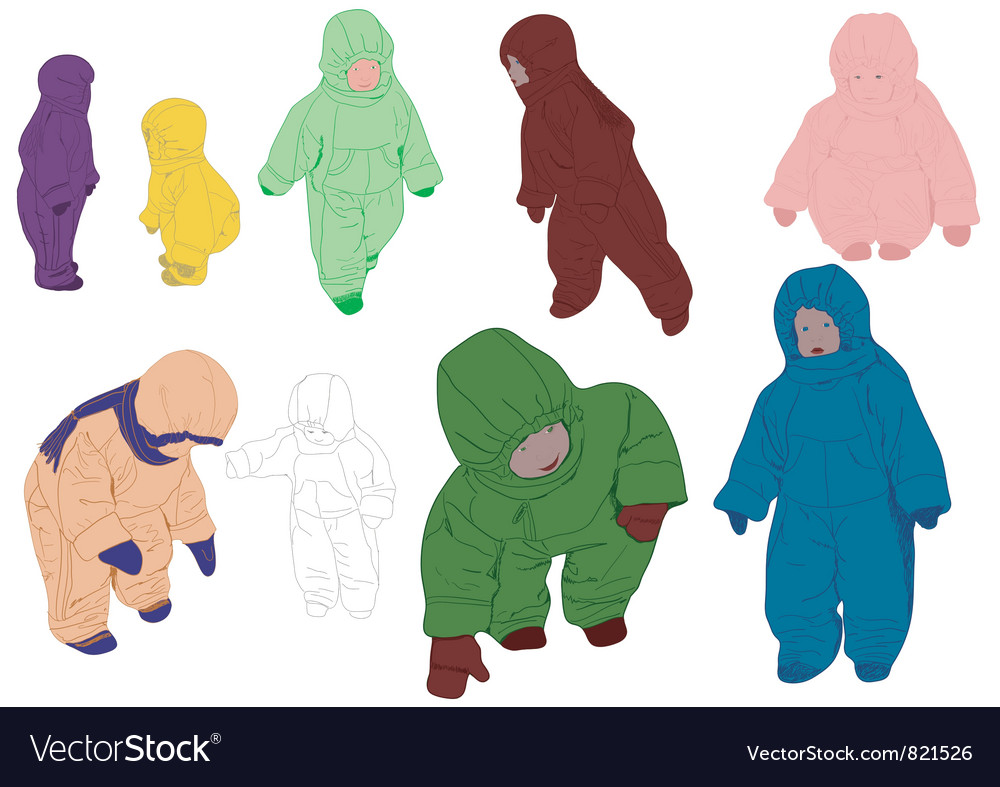 Group children vector | Price: 1 Credit (USD $1)