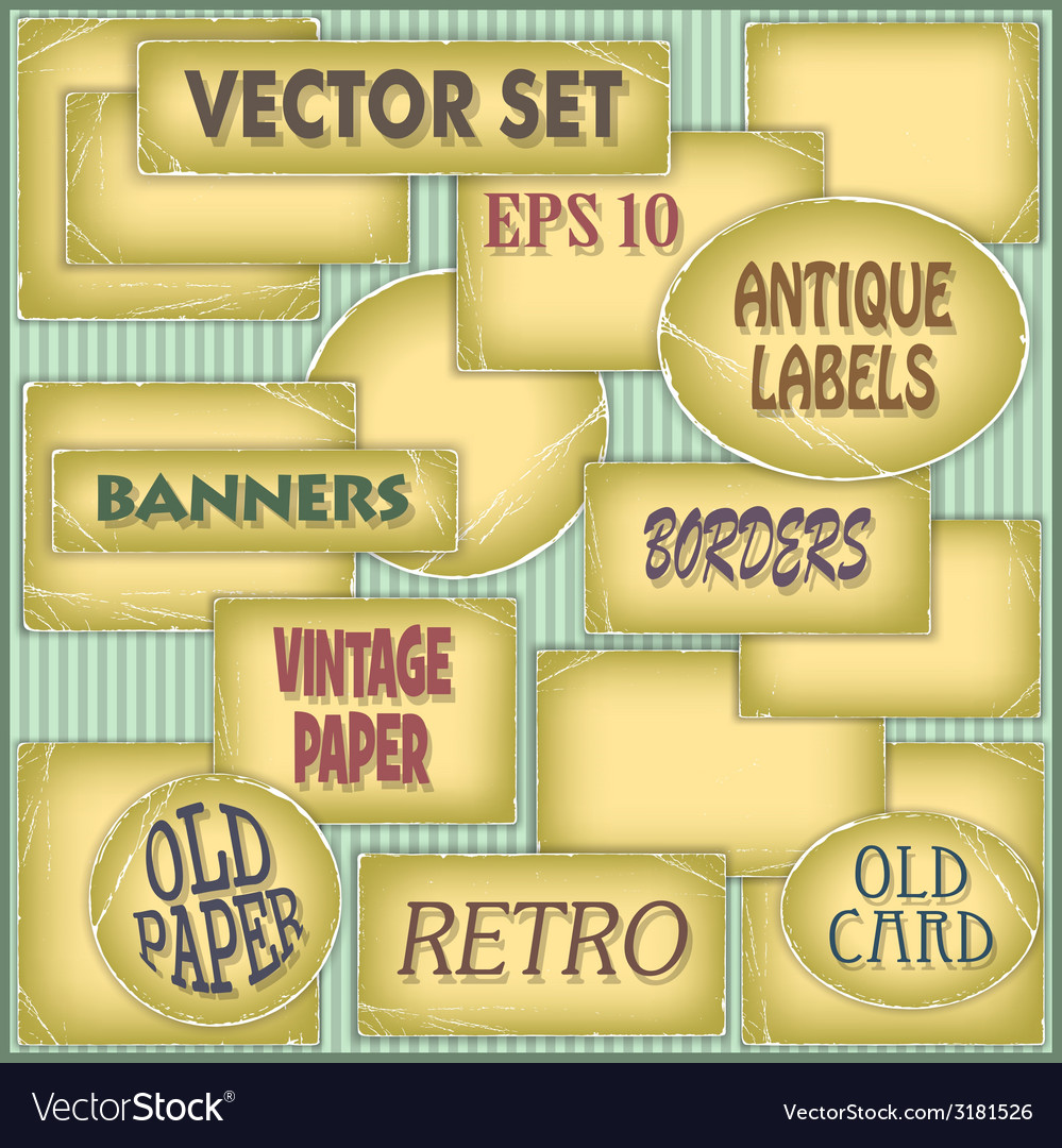 Old paper labels vector | Price: 1 Credit (USD $1)