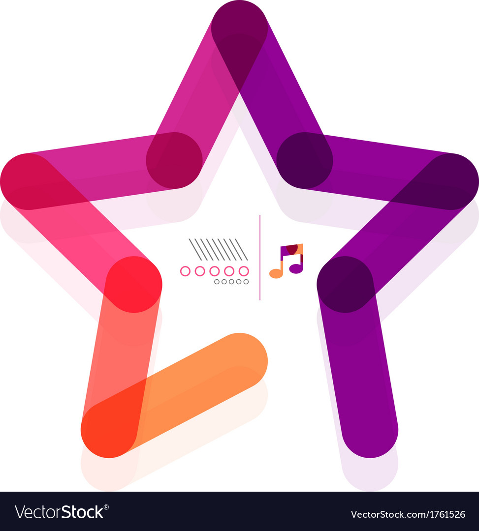 Star abstract geometric shape concept vector | Price: 1 Credit (USD $1)