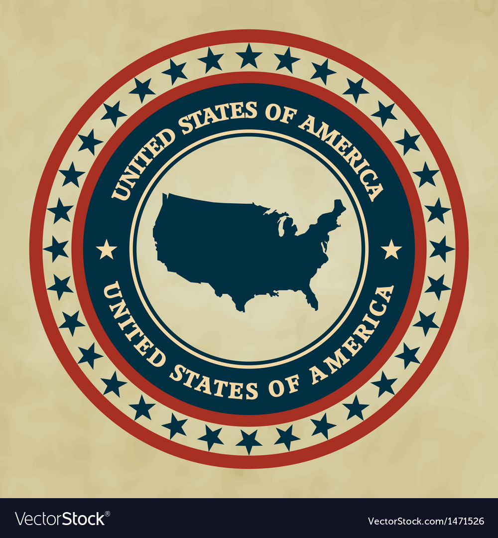 Vintage label usa vector | Price: 1 Credit (USD $1)