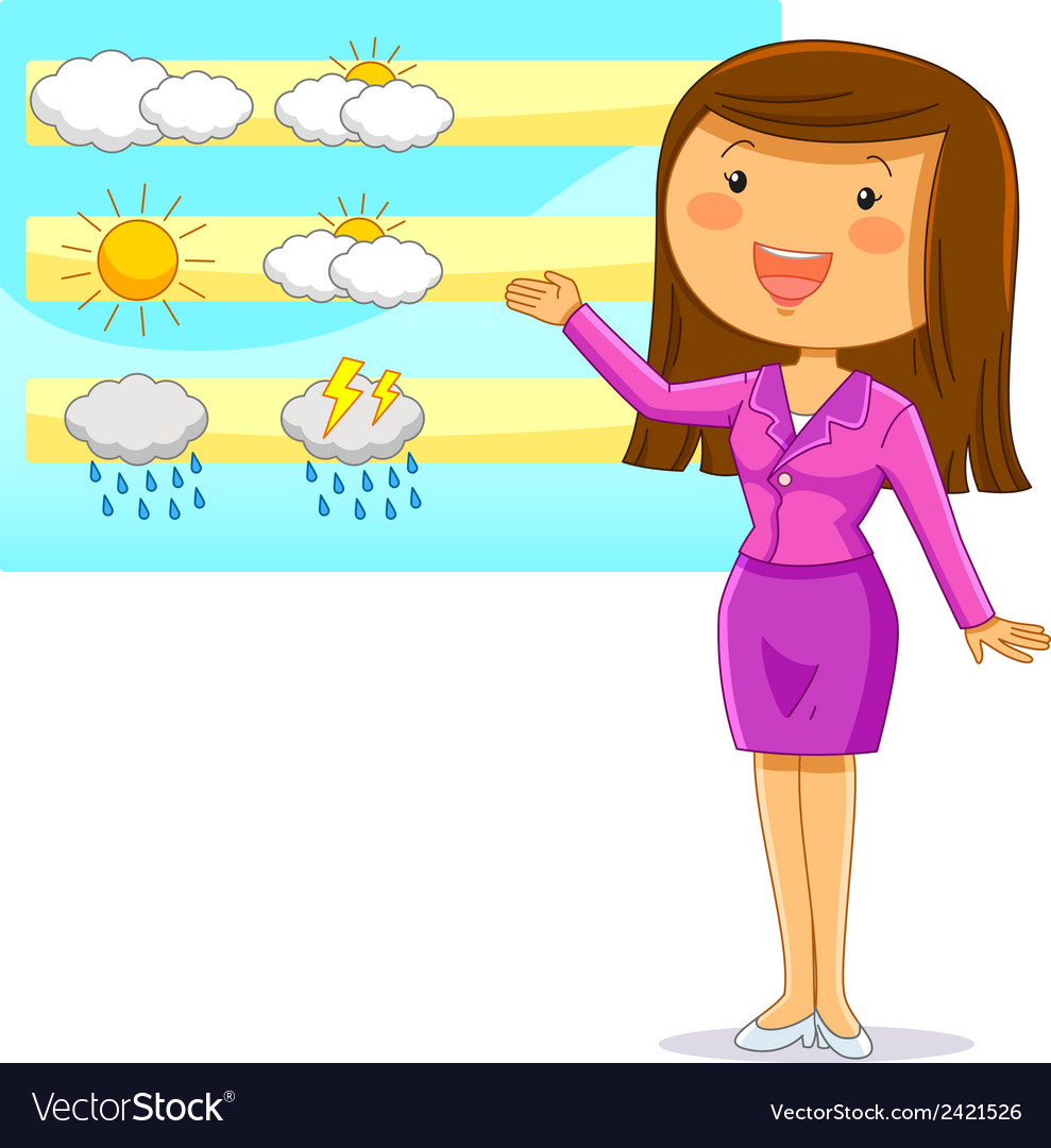 Weather reporter vector | Price: 1 Credit (USD $1)