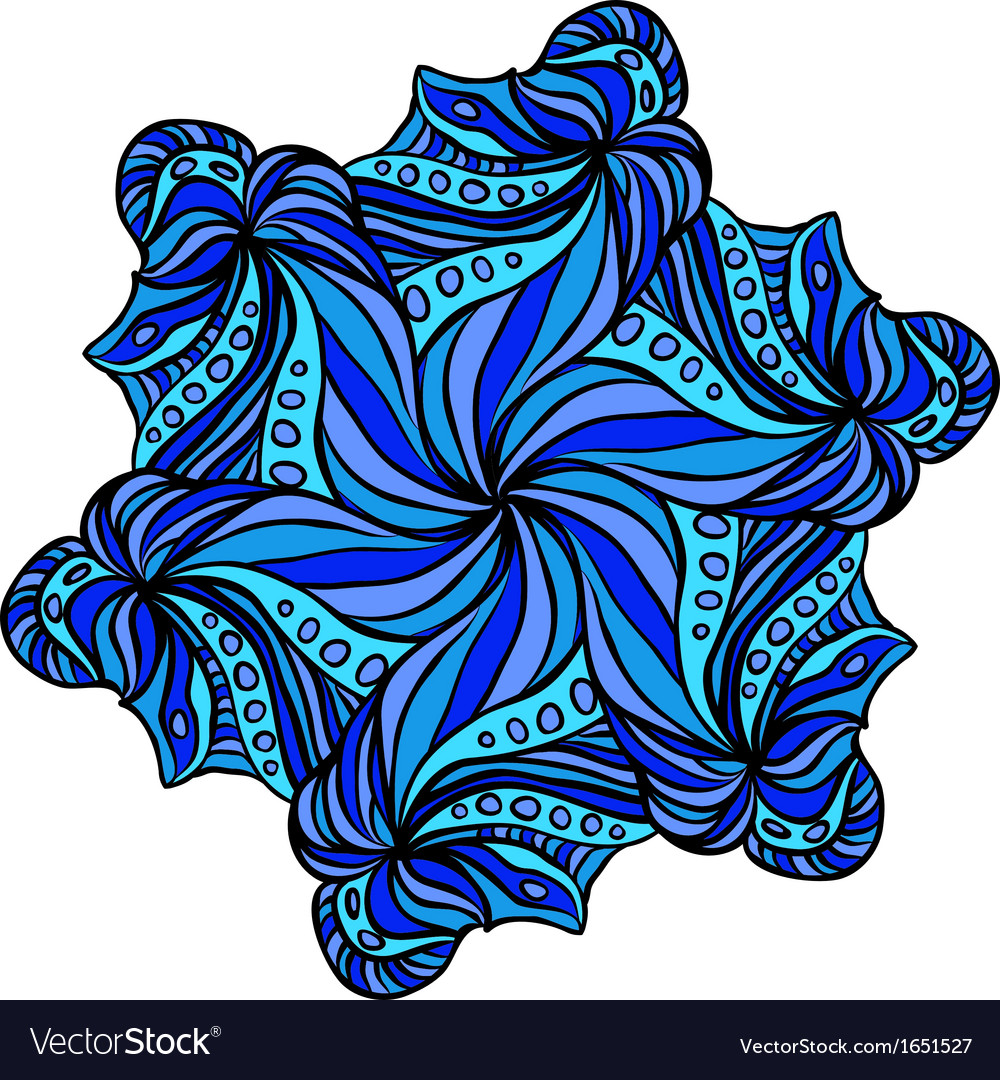 Abstract blue hexagonal pattern vector | Price: 1 Credit (USD $1)