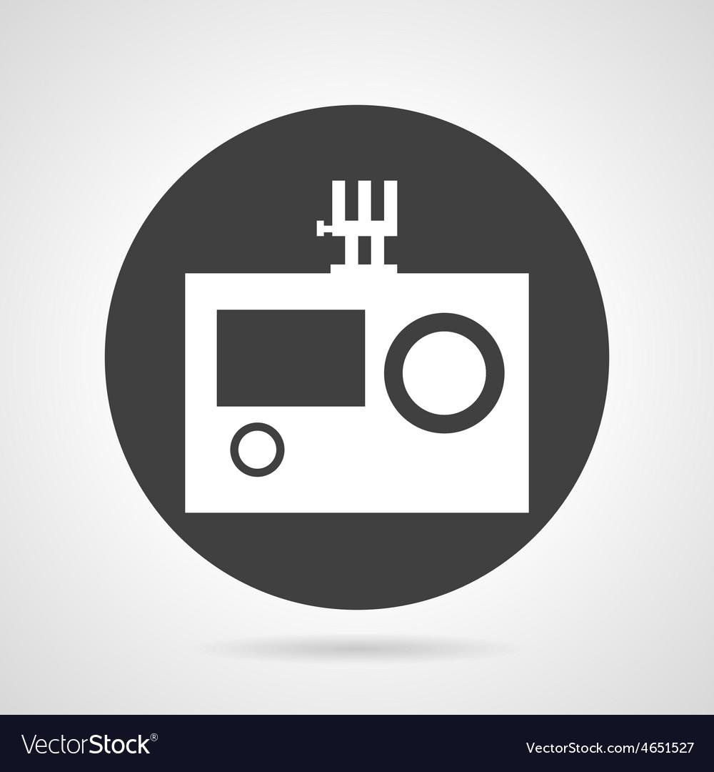 Action camera black round icon vector | Price: 1 Credit (USD $1)