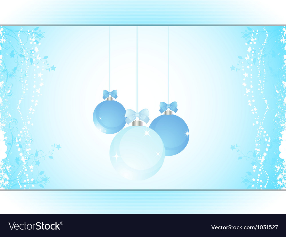 Christmas bauble panel background landscape vector | Price: 1 Credit (USD $1)