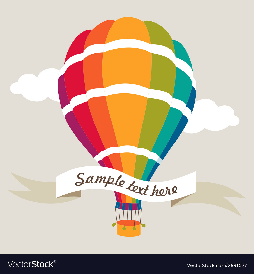 Colorful air balloon vector | Price: 1 Credit (USD $1)